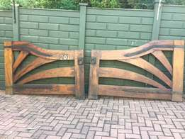 Solid antique wooden gates