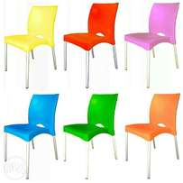 Fiesta aimless plastic chair with aluminum legs