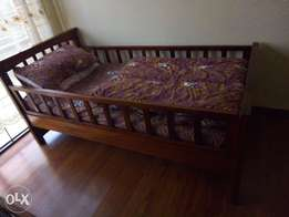 Moving sale - 3 by 6 mattrass and bed with duvee and pillow (2 sets)