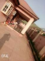 Decent 5 bedroom bungalow alone in the compound at Ikola, Ipaja