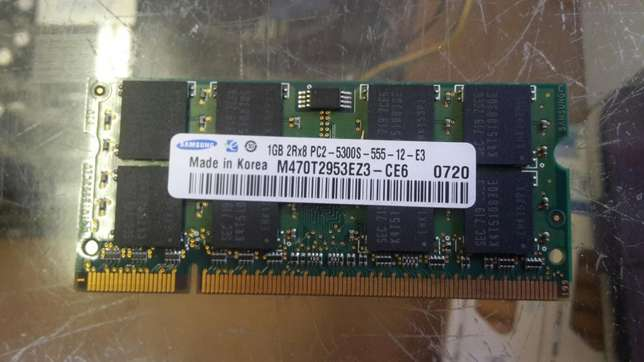 1GB DDR2 laptop ram Middelburg - image 1