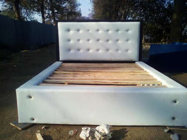 Queen size leather bed - free delivery Westlands - image 2