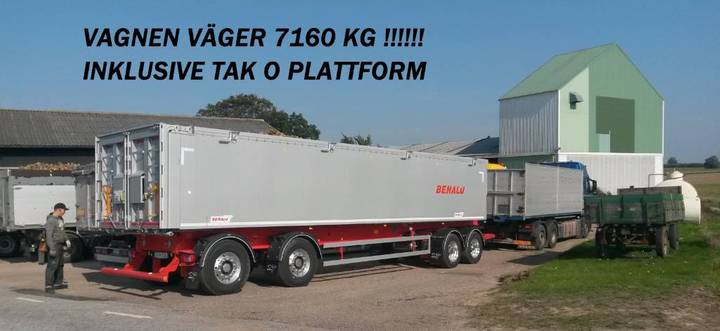 Benalu Tippsläp 4-axlad Optiliner 38 Ton Bulk & Pallgods - 2018