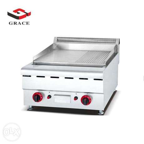 GRACE Commecail Gas Griddle With Grooved