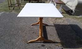 Beechwood 6 Seater Restaurant Table with White Top
