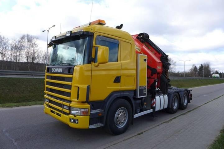 Scania R124 420 6x4 Palfinger 54000 + Fly Jib - 2001