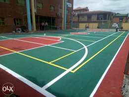 Basketball / multipurpose court construction