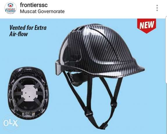 Carbon fibre safety helmet PPE