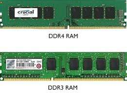 computer desktop RAM DDR 3 and DDR4 for 2GB