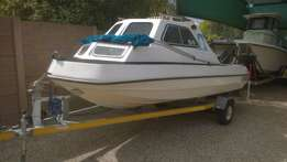Sportster Cabin Boat, with valid 5 Mile Seaworthy and valid Breede Riv