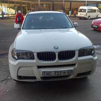 2006 BMW x3 2.5i, red leather seat in good condition for R 99000.00