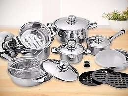 Cookware set 16 PC Stainless Steel 18/10, 11 Layer Capsuled Set with T