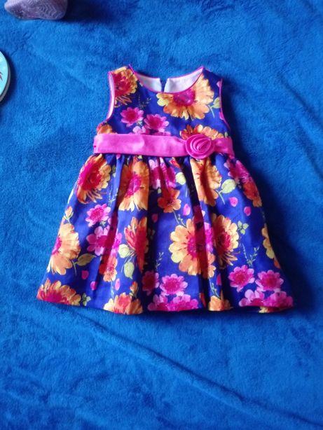 bcff53861a Śliczna sukienka na święta i nie tylko rozm.74 Baryczka - image 1