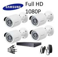 Samsung – Full HD 4 Channel / 4 camera 1080P CCTV Camera Kit