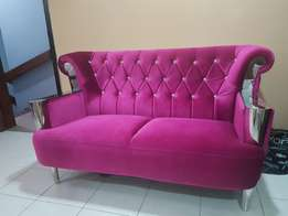 Pink sofa with crystals