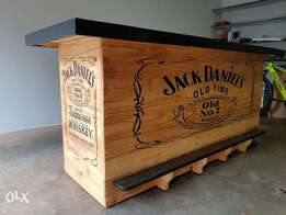 Jack Daniels Solid Pine Wood Bar **Brand New**