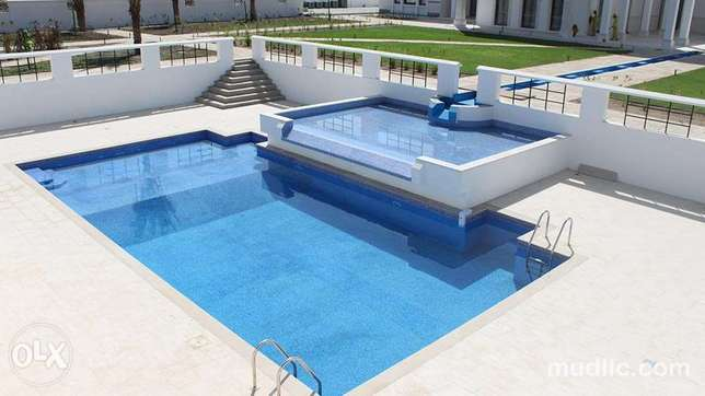 Swimming pools and outdoor lawns