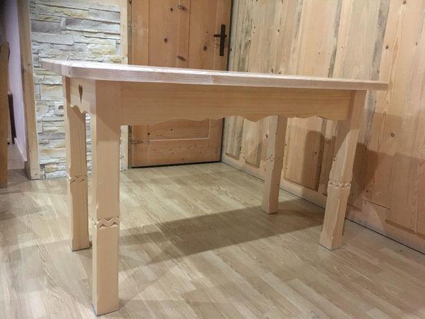 Wspaniały Stół drewniany rzeźbiony góralski jesion 125x65 Zakopane • OLX.pl DA67