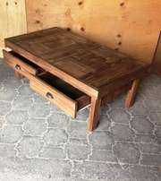 Coffee table Farmhouse series 1400 with drawers - Stained Light brown