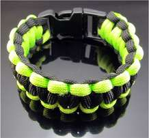 Luminous green Outdoor Camping Survival Bracelet
