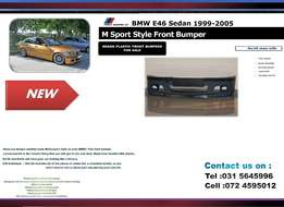 BMW E46 individual New Front Plastic bumpers For sale R2200