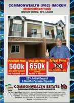 common wealth estate is now selling for 500,000 per plot