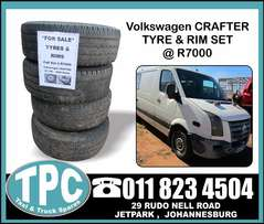VW CRAFTER 35 120 Tyres & Rims - Full Set for sale at TPC