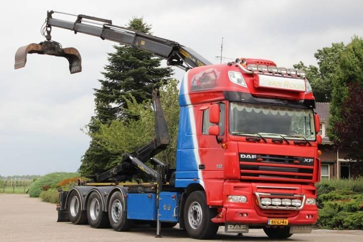DAF XF105/510 FAK 8x2 !!KRAAN/HAAK!!SPECIAL SHOW TRUCK!!!! - 2009