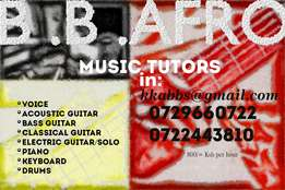 Music tutors on all instruments even Vocal