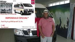 New Nissan NV350 Taxi Impendulo