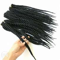 crocheted box braids extension