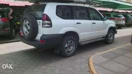 Toyota Prado diesel 120 series manual duty not paid asking 1.2m