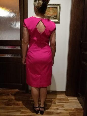 187ca59333 SIMPLE sukienka różowa L r. 40 fuksja wizytowa wesele plecy Ruda Śląska -  image 3
