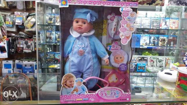 baby doll with doctor set inside