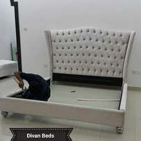 Divan leather bed.