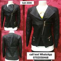 Leather jackets black in color