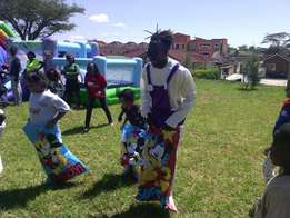 Hire mascots clowns for team building and games