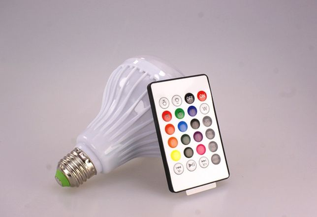 Музыкальная светодиодная лампа Bluetooth 3.0, Е27, 12W Киев - изображение 3