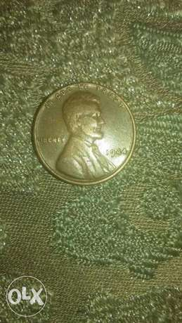 USA Bronze Coin One Wheat Cent year 1944