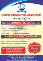 Adult and out of school youth-KCSE,IGCSE,KCPE-TOEFL ibt,SAT,GRE,
