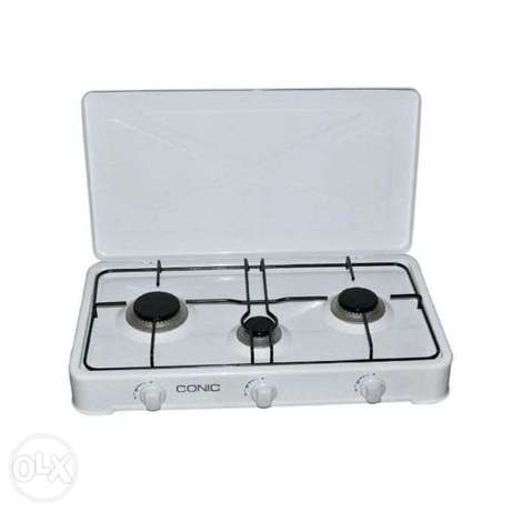 Conic 3 Burner Gas Cooker Top - White Westlands - image 1