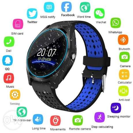 "220,000 LL V9 Smart Watch 1.22"" Touch Screen Camera"