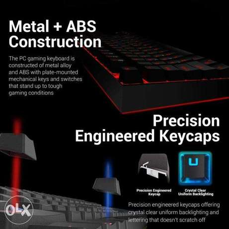 REDRAGON Gaming Keyboard & Mouse Combo Kit Mouse Pad Red LED Backlit الخوير -  5