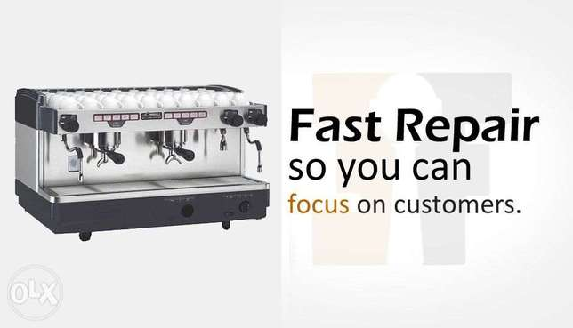 Coffee machine service and repair with all spare parts available
