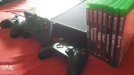 Xbox One for Sale. Includes 3 controllers and 8 games.