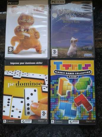 4 pc - cd rom games for sale, Ttris, Garfield2, Charlottes web and Dom Edenvale - image 1