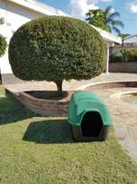 2 Piece Durable Plastic Dog Kennel For sale (UV Resistant)