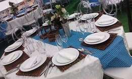 wedding decor (traditional/white),events hire,lounge set up,stretch te