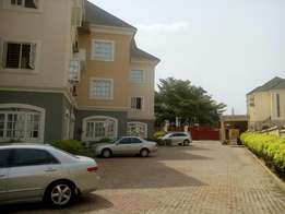 A tastefully finished, serviced 4bedroom terrace duplex with 1room BQ