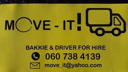 Move / Transport / Removals/ Services / Bakkie hire